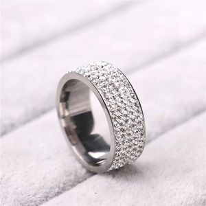 Jewelry - Crystal Stainless Steel Ring Size 7